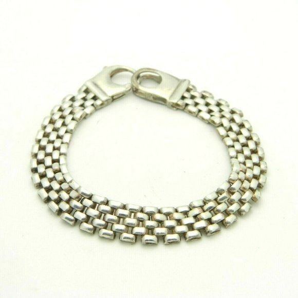 Vintage Jewelry - Sterling Silver .925 Wide Italian Chain Link